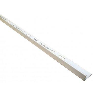 Tegelprofiel PVC 10 mm recht wit