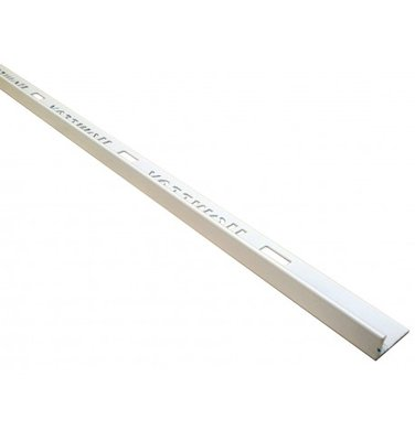 Tegelprofiel PVC 8 mm recht wit