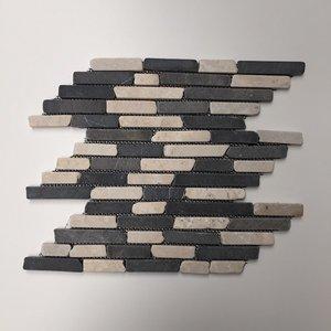 Mozaiek Recht Creme/antraciet