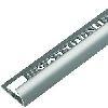 Tegelprofiel aluminium 10 mm rond matzilver